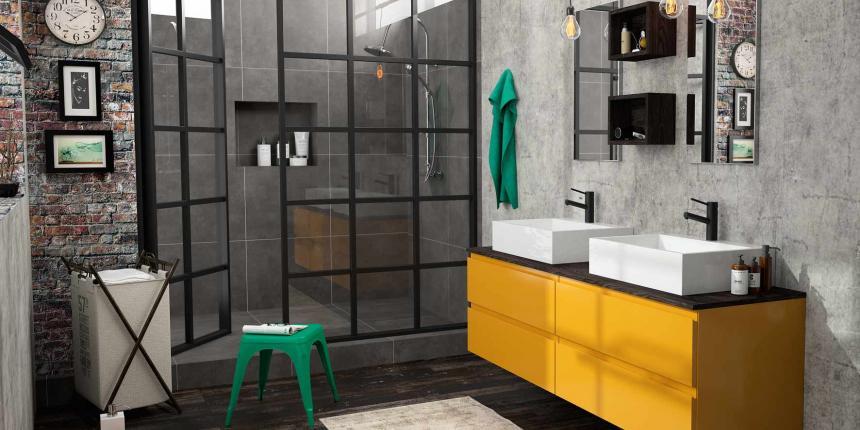 style de salles de bain pour un loft.