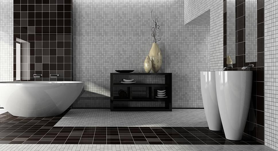 types de matériaux pour une salle de bain.