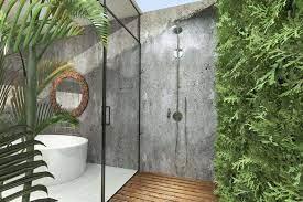 salle de bain extérieure.