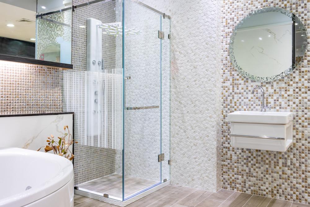 protection de douche.